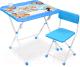 Комплект мебели с детским столом Ника КНД4П/1 Азбука в кругу друзей -