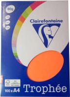 Бумага Trophee A4 80г/м 100л / 4129 (оранжевый неон) -