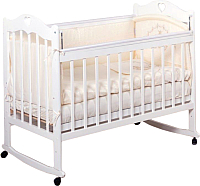 Детская кроватка Incanto Sofi с сердечком (белый) -
