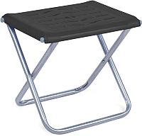 Табурет складной Ника С пластиковым сиденьем / ПСП4 (черный) -