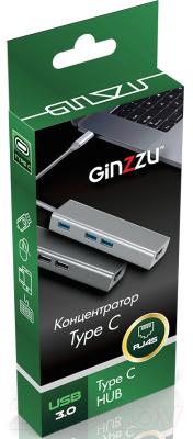USB-хаб Ginzzu GR-765UB
