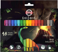 Фломастеры Koh-i-Noor Dino / 771002AH21KS (18шт) -