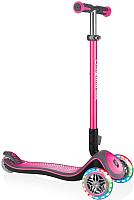 Самокат Globber Elite Deluxe Lights / 444-410 (розовый) -