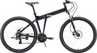 Велосипед STARK Cobra 29.2 HD 2020 (18, черный/голубой) -