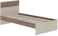 Односпальная кровать АТЛАНТ Next-71 80x200 (ясень шимо темный/ясень шимо светлый) -