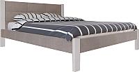Двуспальная кровать Королевство сна Анна 180x200 (светло-серый/этна 015) -