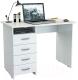Письменный стол MFMaster Милан (0120) / МСТ-СДМ-00-БТ-03 (белый) -