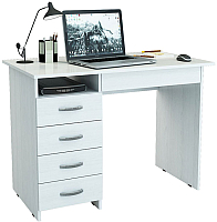 Письменный стол MFMaster Милан-1 (0120) / МСТ-СДМ-01-БТ-03 (белый) -
