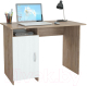 Письменный стол MFMaster Милан-8 (0120) / МСТ-СДМ-08-СБ-03 (дуб сонома/белый) -
