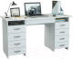 Письменный стол MFMaster Милан-10Я (0120) / МСТ-СДМ-1Я-БТ-03 (белый) -