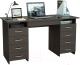 Письменный стол MFMaster Милан-10Я (0120) / МСТ-СДМ-1Я-ВМ-03 (венге) -