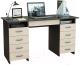 Письменный стол MFMaster Милан-10Я (0120) / МСТ-СДМ-1Я-ВД-03 (венге/дуб молочный) -