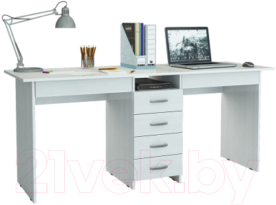 Письменный стол MFMaster Тандем-2Я (0120) / МСТ-СДТ-2Я-БТ-03