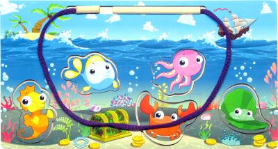 Развивающая игрушка Paremo Вкладыш. Морская рыбалка / PE720-92