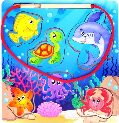 Развивающая игрушка Paremo Вкладыш. Большая рыбалка / PE720-93