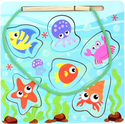 Развивающая игрушка Paremo Вкладыш. Веселая рыбалка / PE720-157