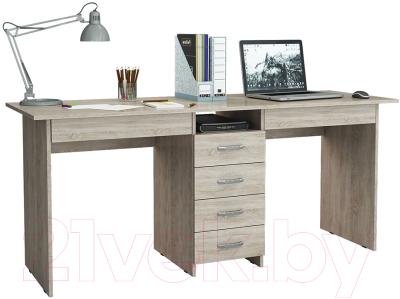 Письменный стол MFMaster Тандем-2Я (0120) / МСТ-СДТ-2Я-ДС-03