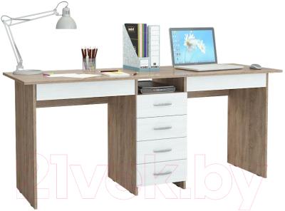 Письменный стол MFMaster Тандем-2Я (0120) / МСТ-СДТ-2Я-СБ-03