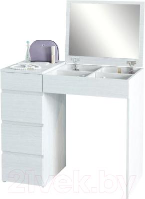 Туалетный столик с зеркалом MFMaster Триверо-1 / МСТ-ТСТ-01-БТ-16