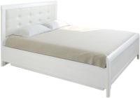 Двуспальная кровать Лером КР-1033-СЯ 160х200 (ясень снежный) -