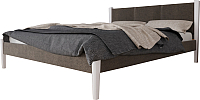 Двуспальная кровать Королевство сна Тенерифе 160х200 (белый/этна 095) -