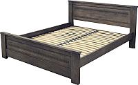 Двуспальная кровать Королевство сна Элит-Нью 180х200 (венге) -