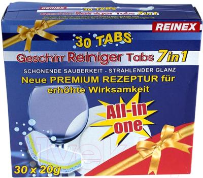 Таблетки для посудомоечных машин Reinex Geschirr-Reining Tabs 7 в 1 (30шт)
