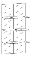 Комплект стекол для мебели Уют Сервис Гарун С206 -