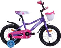 Детский велосипед AIST Wiki 14 2020 (фиолетовый) -