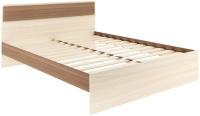 Двуспальная кровать АТЛАНТ Next-73 160x200 (ясень шимо темный/ясень шимо светлый) -