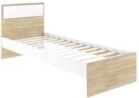 Односпальная кровать АТЛАНТ Next-71 80х200 (дуб сонома/белая аляска) -