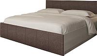 Двуспальная кровать АТЛАНТ Милос 73-01 160х200 (ясень анкор светлый/Savana Coffee) -