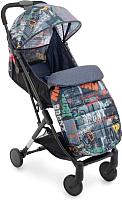 Детская прогулочная коляска Teddy Bear С-3 (джинс/темно-синий) -