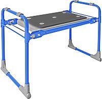 Скамья складная Ника СКМ2 с мягким сиденьем (голубой) -