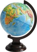 Глобус Глобусный мир Физический рельефный на подставке / 10153 (21см) -