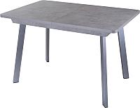 Обеденный стол Домотека Джаз ПР-1 80x120-157 (серый бетон/серый/93) -