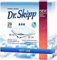 Пеленки одноразовые Dr.Skipp С суперабсорбентом 45x60 (60шт) -