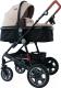 Детская универсальная коляска Lorelli Lora 3 в 1 Beige Black Dots / 10021282058 -