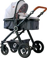 Детская универсальная коляска Lorelli Alexa 3 в 1 Light Grey / 10021292068 -
