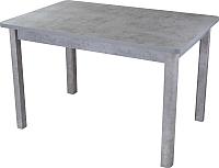 Обеденный стол Домотека Джаз ПР-1 80x120-157 (серый бетон/серый/04) -