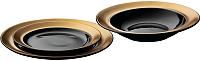 Набор тарелок BergHOFF Gem 1698002 (черный) -