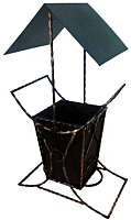 Урна уличная Станкоинструмент № 2 с крышей -