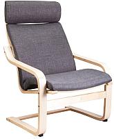 Кресло мягкое Седия Relax (ткань серый) -