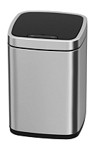 Сенсорное мусорное ведро JAVA Rome (9л, матовая сталь) -