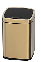 Сенсорное мусорное ведро JAVA Rome (12л, золото) -