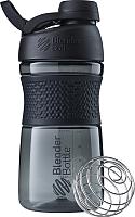 Шейкер спортивный Blender Bottle Sport Mixer Tritan Twist Cap / BB-ST20-FCBL (черный) -