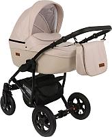 Детская универсальная коляска Pituso Confort 2 в 1 (светло-бежевый/кожа светло-бежевый) -