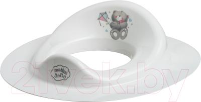 Детская накладка на унитаз Maltex Медвежата / 2091 (белый)