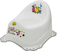 Детский горшок Maltex Мишка и друзья / 5313 (белый/серый) -