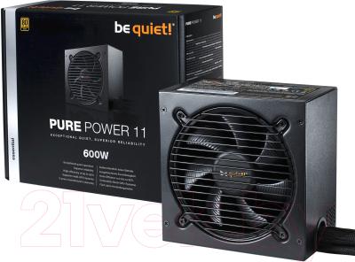 Блок питания для компьютера Be quiet! Pure Power 11 Gold Retail 600W (BN294)